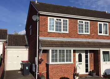Thumbnail 3 bed semi-detached house for sale in Julius Drive, Coleshill, Coleshill, West Midlands