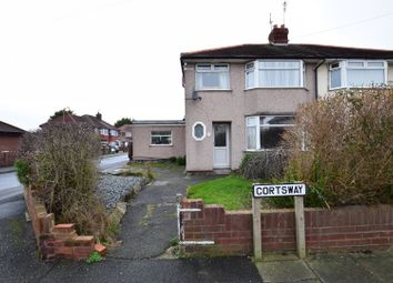 Thumbnail 3 bed semi-detached house for sale in Cortsway, Greasby