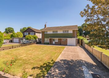 Thumbnail 4 bed detached house for sale in Upfield, Horley, Surrey