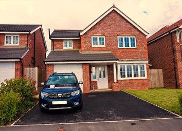 Thumbnail 4 bed detached house for sale in Poppy Field Road, Northop Hall