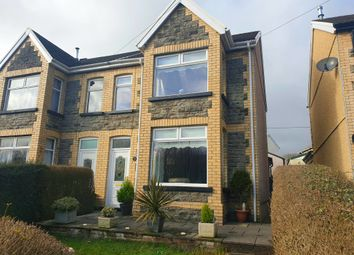 Thumbnail 4 bed semi-detached house for sale in Gwerthonor Road, Gilfach, Bargoed
