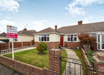 Thumbnail 3 bed semi-detached bungalow for sale in Oakley Road, Dovercourt, Harwich