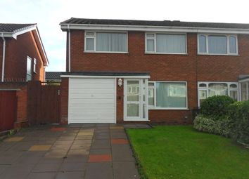Thumbnail 3 bedroom semi-detached house to rent in Humber Road, Smiths Wood, Castle Brom