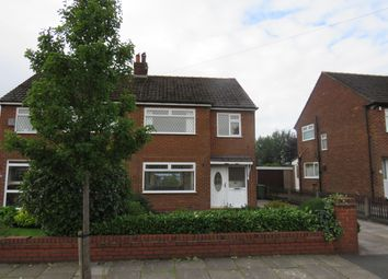 Thumbnail 3 bed semi-detached house to rent in Moorfield Crescent, Lowton, Warrington
