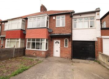 Thumbnail 5 bed semi-detached house for sale in Friarside Road, Fenham, Newcastle Upon Tyne