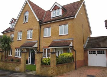 Thumbnail 3 bed town house for sale in Hoverfly Close, Lee-On-The-Solent