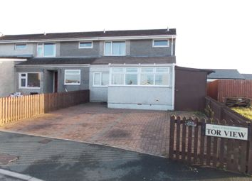 Thumbnail 3 bed end terrace house for sale in Tor View, Tregadillett, Launceston