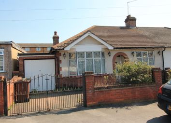 Thumbnail 2 bed semi-detached bungalow for sale in Wadeville Avenue, Chadwell Heath, Essex