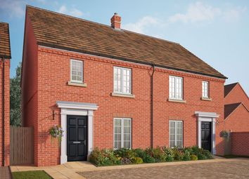 "Thumbnail 3 bedroom semi-detached house for sale in ""The Barford"" at Central Avenue, Brampton, Huntingdon"