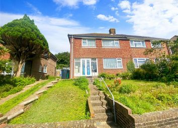Thumbnail 3 bed semi-detached house for sale in Swanborough Drive, Brighton, East Sussex