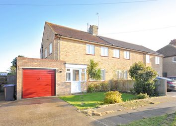 Thumbnail 3 bed semi-detached house for sale in Leighville Drive, Herne Bay, Kent