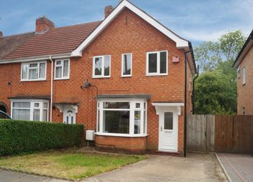 Thumbnail 3 bedroom end terrace house to rent in Gracemere Crescent, Hall Green, Birmingham