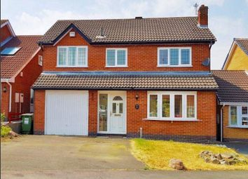 Thumbnail 3 bed detached house to rent in Winterfield Close, Glenfield, Leicester