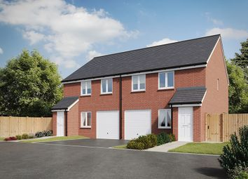 "Thumbnail 3 bed semi-detached house for sale in ""The Chatsworth"" at Derwen View, Brackla, Bridgend"