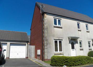 Thumbnail 3 bed semi-detached house for sale in Ffordd Y Gamlas, Bynea, Llanelli