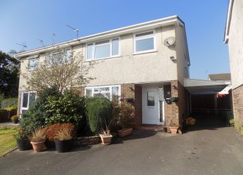 Thumbnail 3 bed semi-detached house for sale in Woodlands Park, Pencoed, Bridgend.