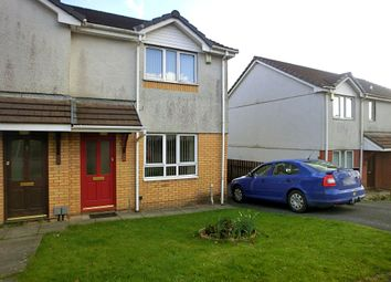 Thumbnail 2 bed semi-detached house to rent in Llanllienwen Close, Parc Gwernfadog, Swansea