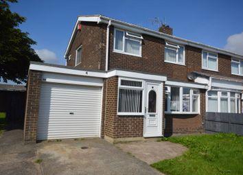 Thumbnail 3 bed semi-detached house for sale in Avondale Gardens, Ashington