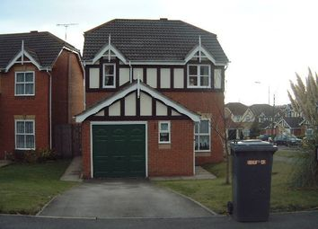 Thumbnail 3 bed detached house to rent in Mickleton Close, Church Gresley, Swadlincote