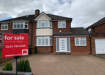 Thumbnail 4 bed semi-detached house for sale in Odensil Green, Solihull