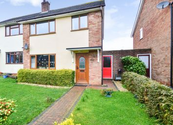 Thumbnail 3 bed semi-detached house for sale in Boyden Close, Wickhambrook, Newmarket