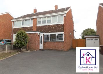 Thumbnail 3 bed semi-detached house to rent in Alpine Drive, Hednesford, Cannock