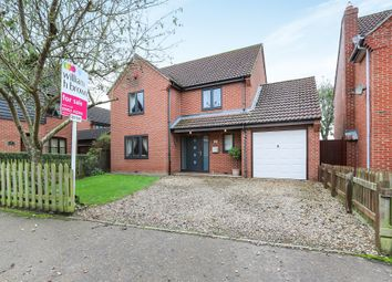 Thumbnail 4 bed detached house for sale in Kenan Drive, Attleborough