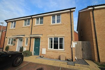 Thumbnail 3 bed semi-detached house for sale in Moyle Park, Hilperton, Trowbridge, Wiltshire