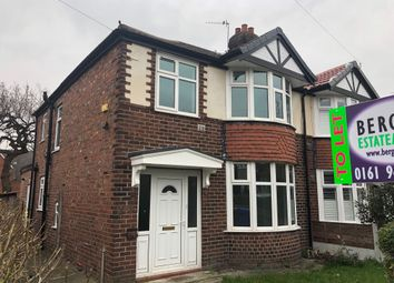 Thumbnail 3 bed semi-detached house to rent in Brookash Road, Manchester
