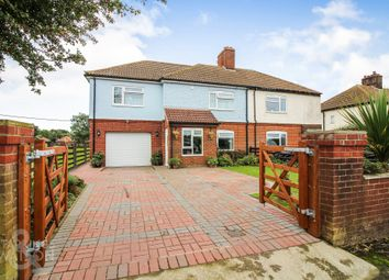 Thumbnail 4 bed semi-detached house for sale in Cantley Road, Limpenhoe, Norwich