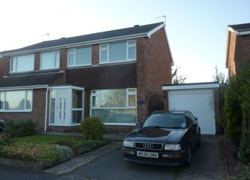 Thumbnail 3 bedroom semi-detached house to rent in Hawthorn Crescent, Stapenhill, Burton.