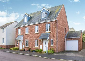 Thumbnail 3 bed town house for sale in Belland Hill, Eynesbury, St. Neots