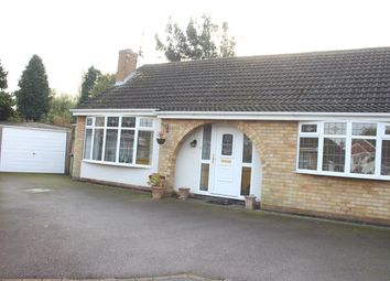 Thumbnail 3 bed detached bungalow for sale in Spa Drive, Sapcote, Leicester
