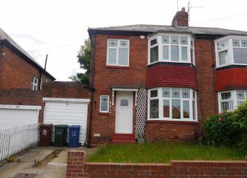 Thumbnail 3 bed semi-detached house to rent in Whittington Grove, Fenham, Newcastle Upon Tyne