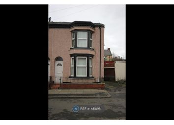 Thumbnail 2 bed end terrace house to rent in Shelley Street, Bootle