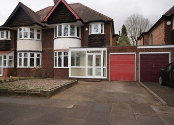 Thumbnail 3 bed semi-detached house to rent in Fox Hollies Road, Hall Green