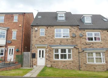 Thumbnail 4 bed semi-detached house for sale in Beaumont Court, Pegswood, Morpeth