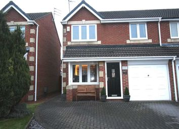 Thumbnail Semi-detached house for sale in Eastwood Place, Hartford Green, Cramlington