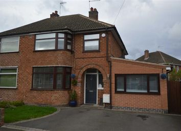 Thumbnail 3 bed semi-detached house for sale in Oakcroft Avenue, Kirby Muxloe, Leicester