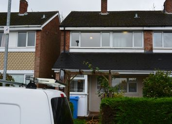 Thumbnail 3 bed end terrace house to rent in Norfolk Grove, Walsall, West Midlands
