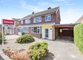 Thumbnail 3 bed semi-detached house for sale in Bollington Road, Oadby, Leicester