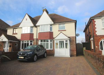 Thumbnail 3 bed semi-detached house for sale in Kinfauns Avenue, Roselands, Eastbourne