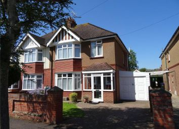 Thumbnail 3 bed semi-detached house for sale in Loxwood Avenue, Tarring, Worthing