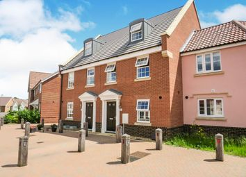 Thumbnail 3 bedroom town house for sale in Tortoiseshell Drive, Attleborough