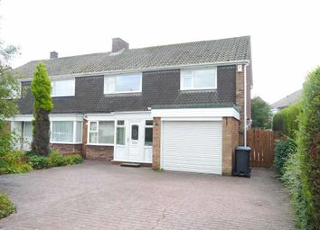 Thumbnail 4 bed semi-detached house for sale in Ridgely Drive, Ponteland, Newcastle Upon Tyne