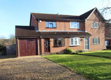 Thumbnail 2 bed semi-detached house to rent in Meadow Close, Stilton, Peterborough