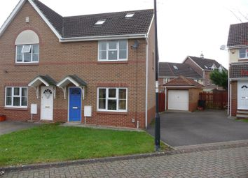 Thumbnail 4 bedroom semi-detached house for sale in Milland Close, Abbey Meads, Swindon