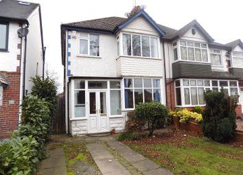 Thumbnail 3 bed semi-detached house to rent in Woodthorpe Road, Kings Heath, Birmingham