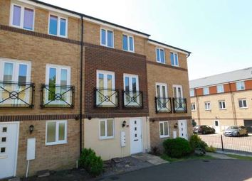 Thumbnail 3 bed town house to rent in Teasel Way, Hampton Centre, Peterborough