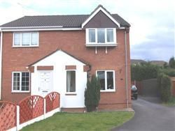 Thumbnail 2 bed semi-detached house to rent in Maple Drive, Broadmeadows, South Normanton, Alfreton